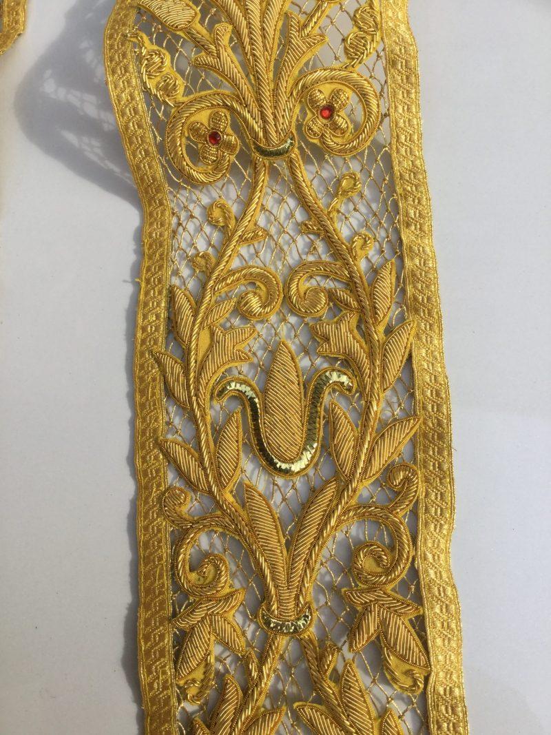 Stola ricamata rete oro 15