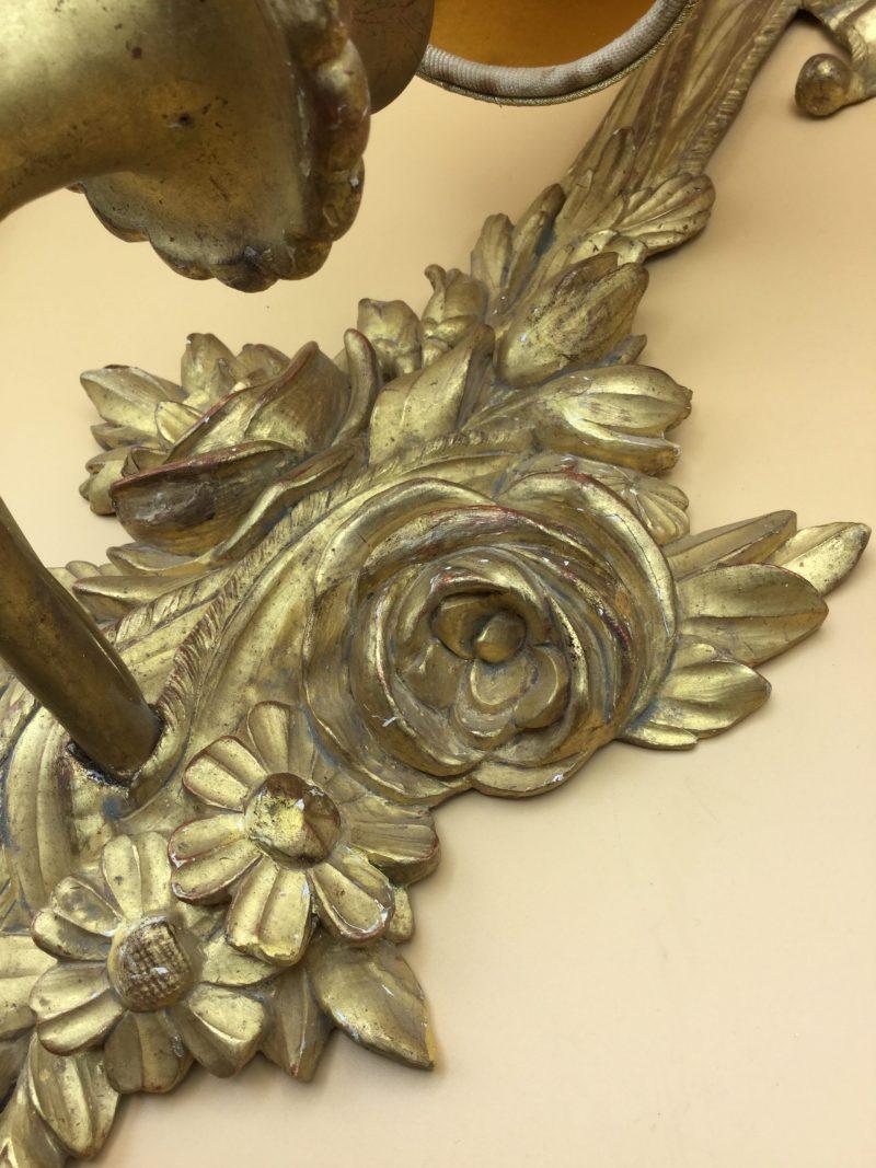 Applique in legno è foglia oro 11